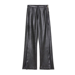 WMN Patrizia Pepe Leather Flare Pants