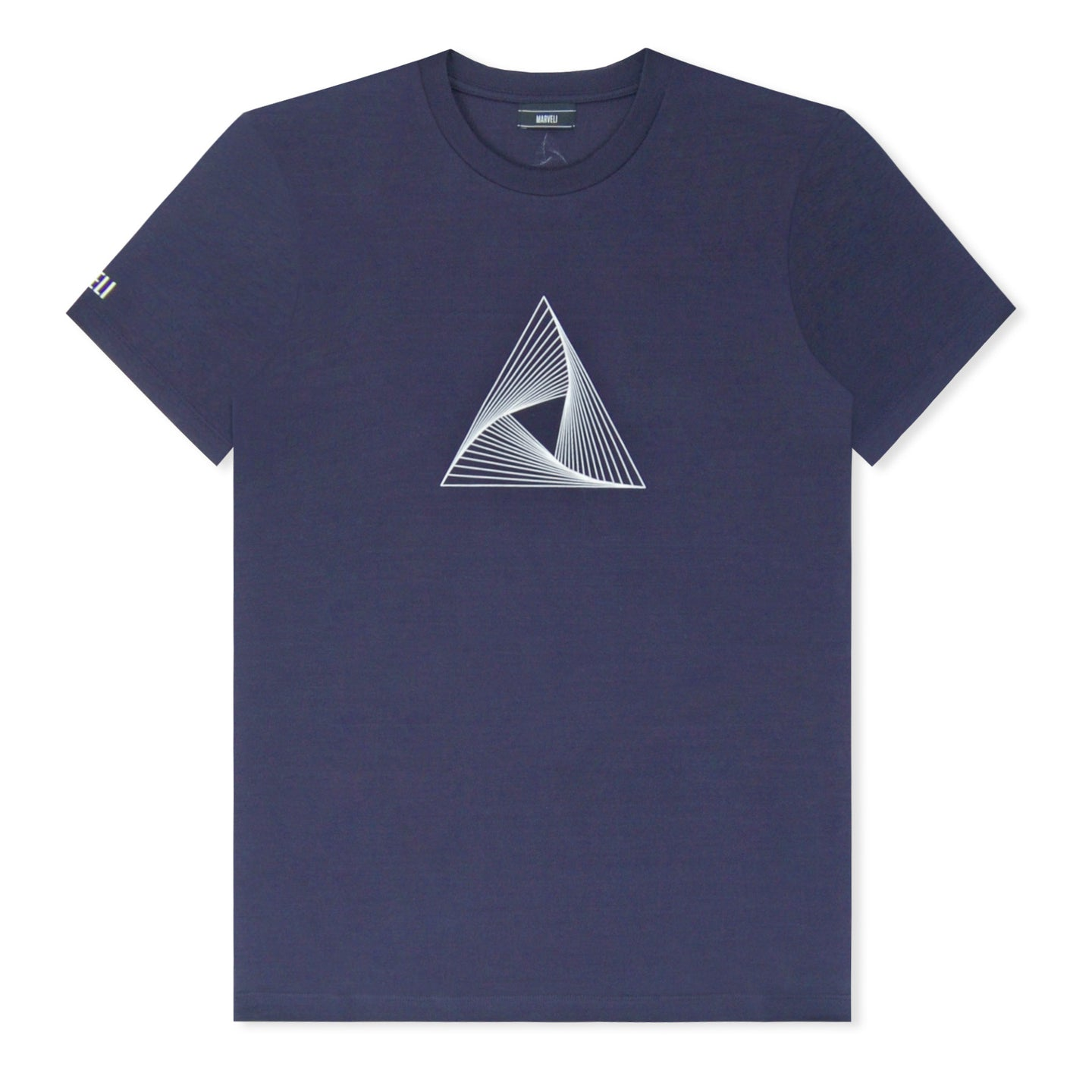 Marveli Logo Printed T-Shirt Navy