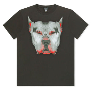 Black Marcelo Burlon Dog Head T-Shirt