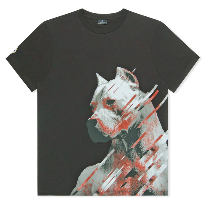 Black Marcelo Burlon Side Dog Head T-Shirt