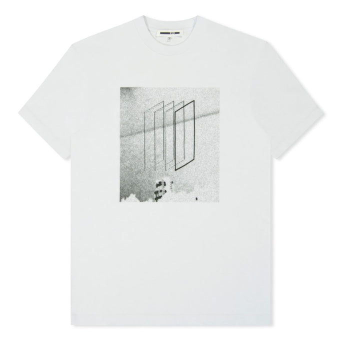 White Square Block Printed T-Shirt