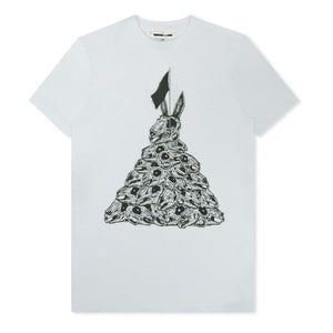 White Bunny Pyramid Printed T-Shirt