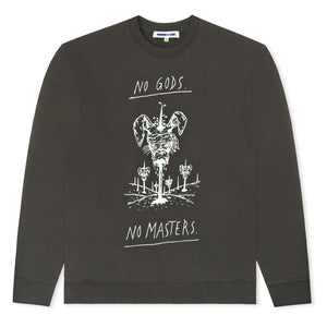 Black No Gods No Masters Printed Sweatshirt