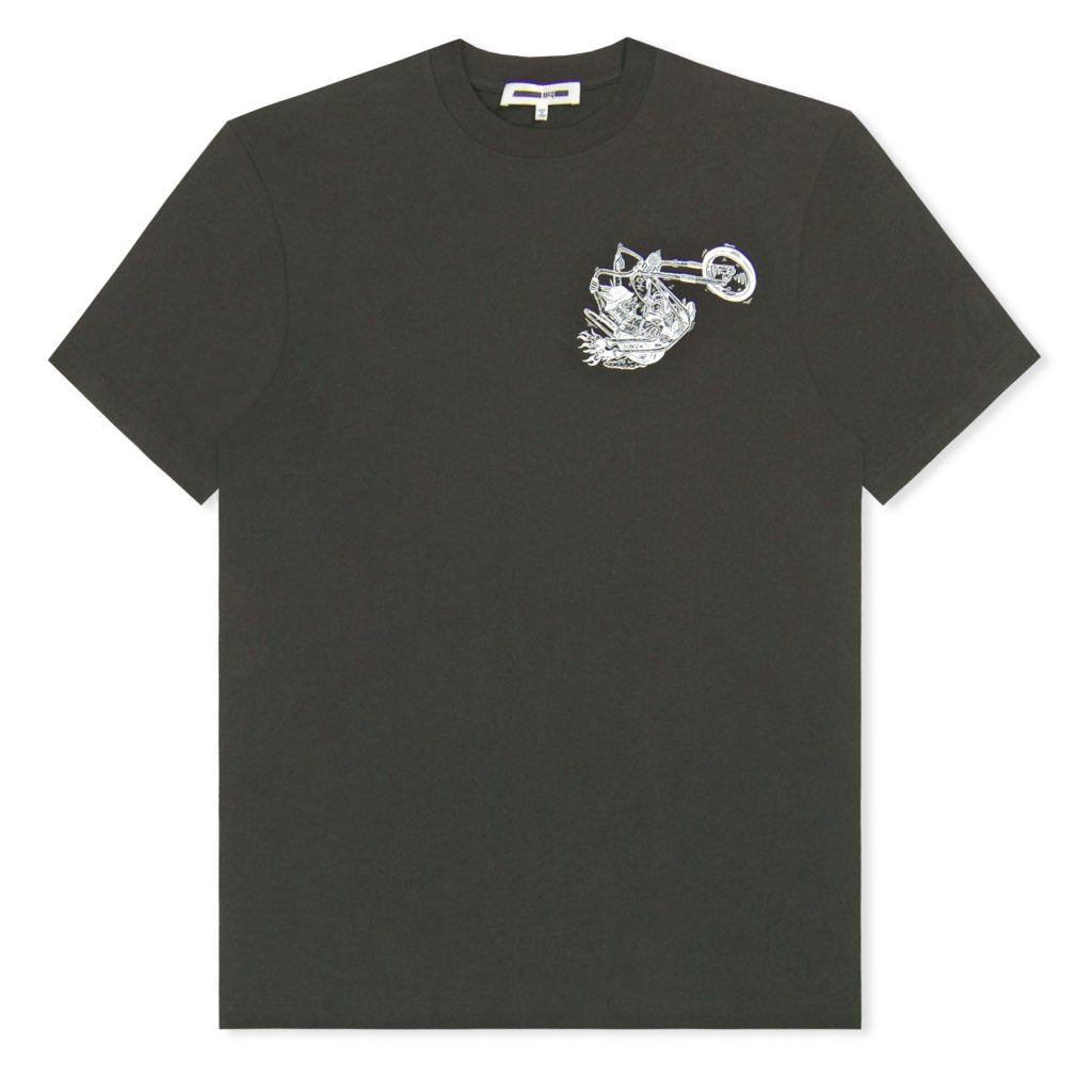 Black Bunny Biker Printed T-Shirt