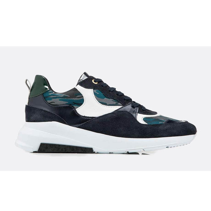Teal/Navy Android Homme Malibu Camo Runners