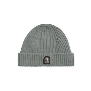 Grey Parajumpers Logo Ribbed Hat