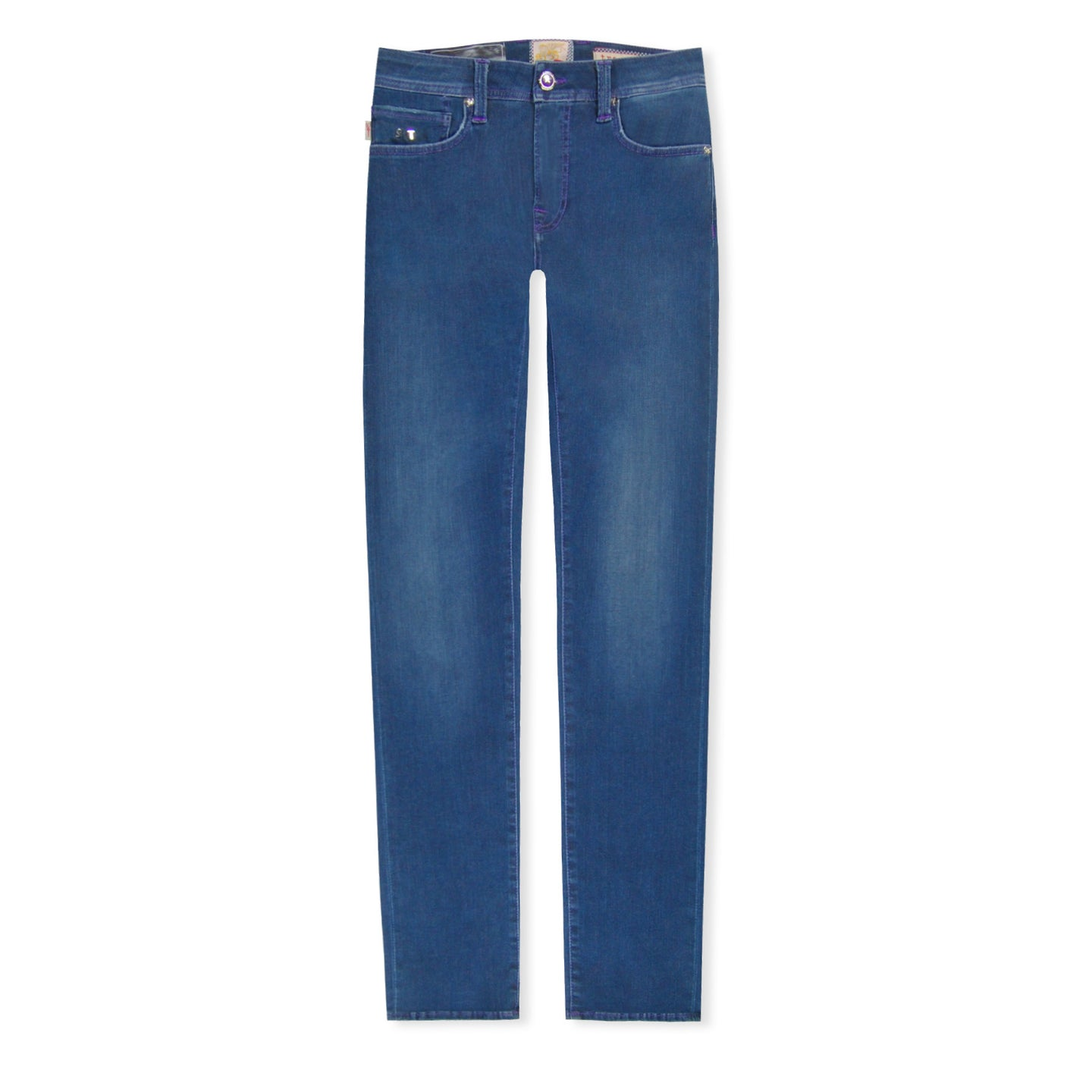 Blue Tramarossa Purple Stitch 24.7 Jeans