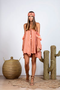 Terracotta Sundress Venus Petra Dress