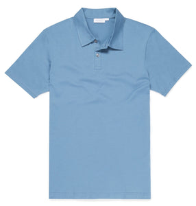 Cornflower Cotton Plain Polo