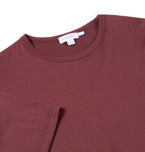 Burgundy Plain Cotton T-Shirt