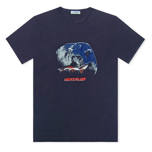 Navy Untitled Atelier Bear Printed T-Shirt