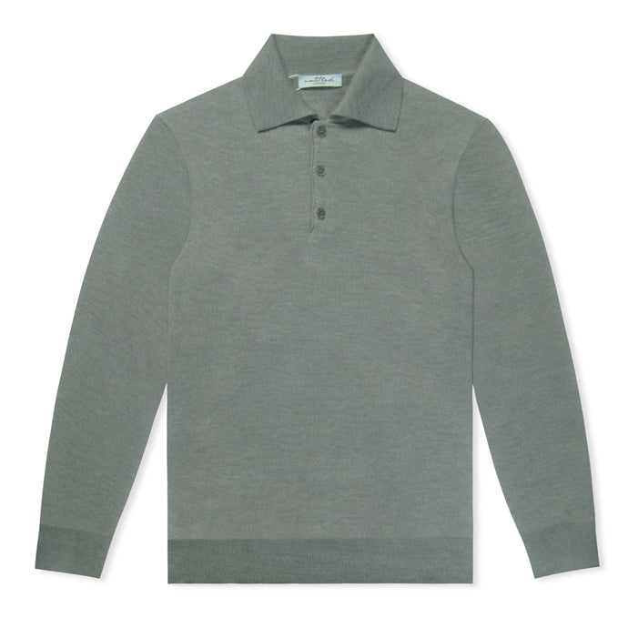Grey Untitled Atelier Knitted LS Polo
