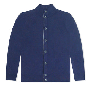 Navy Untitled Atelier Merino Button Through Cardigan
