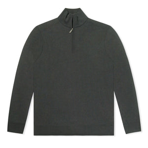Black Untitled Atelier Merino Wool Half Zip Jumper