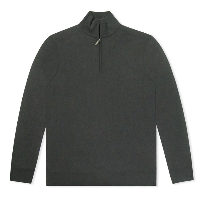 Black Untitled Atelier Zip Knitted Jumper