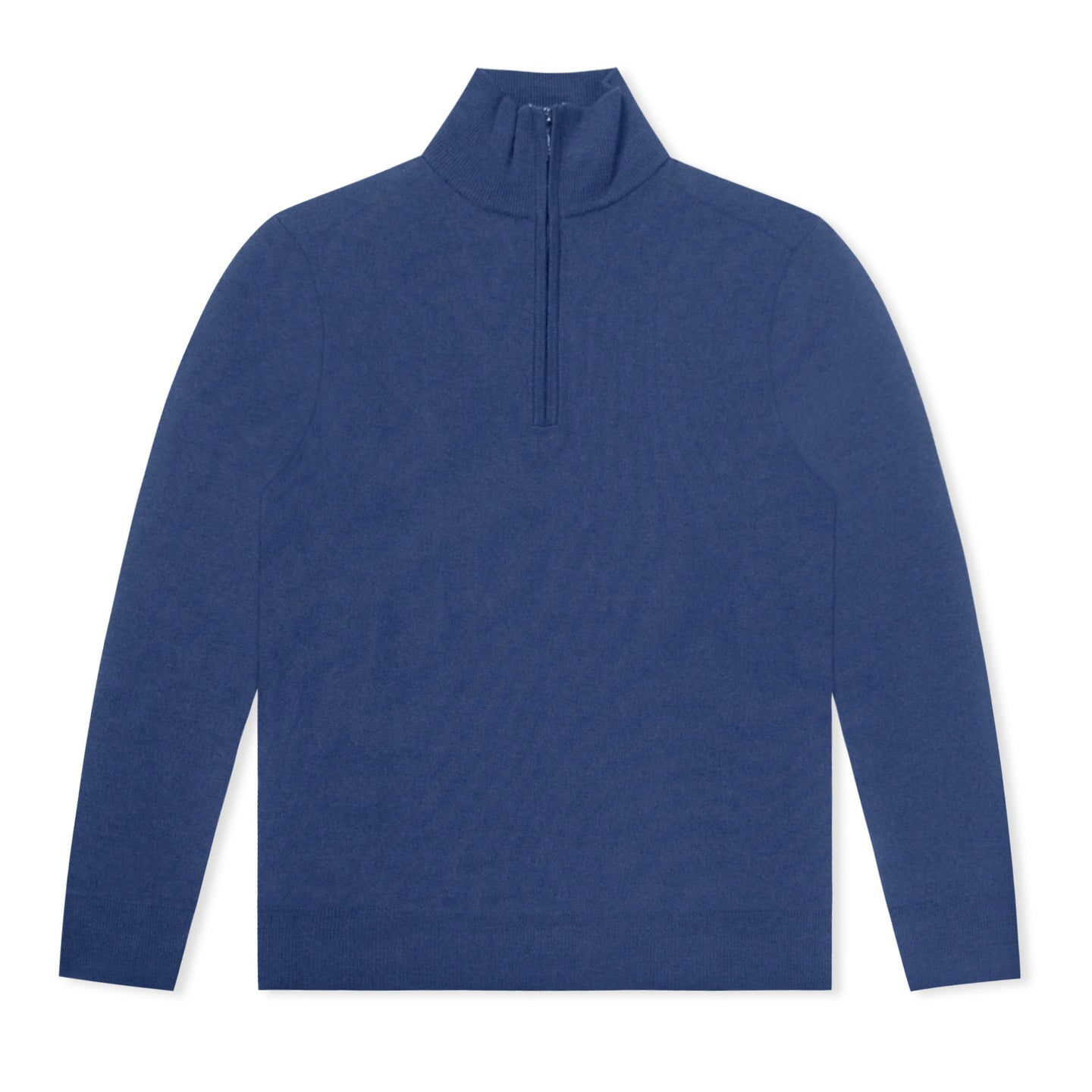 Navy Untitled Atelier Merino Wool Half Zip Jumper