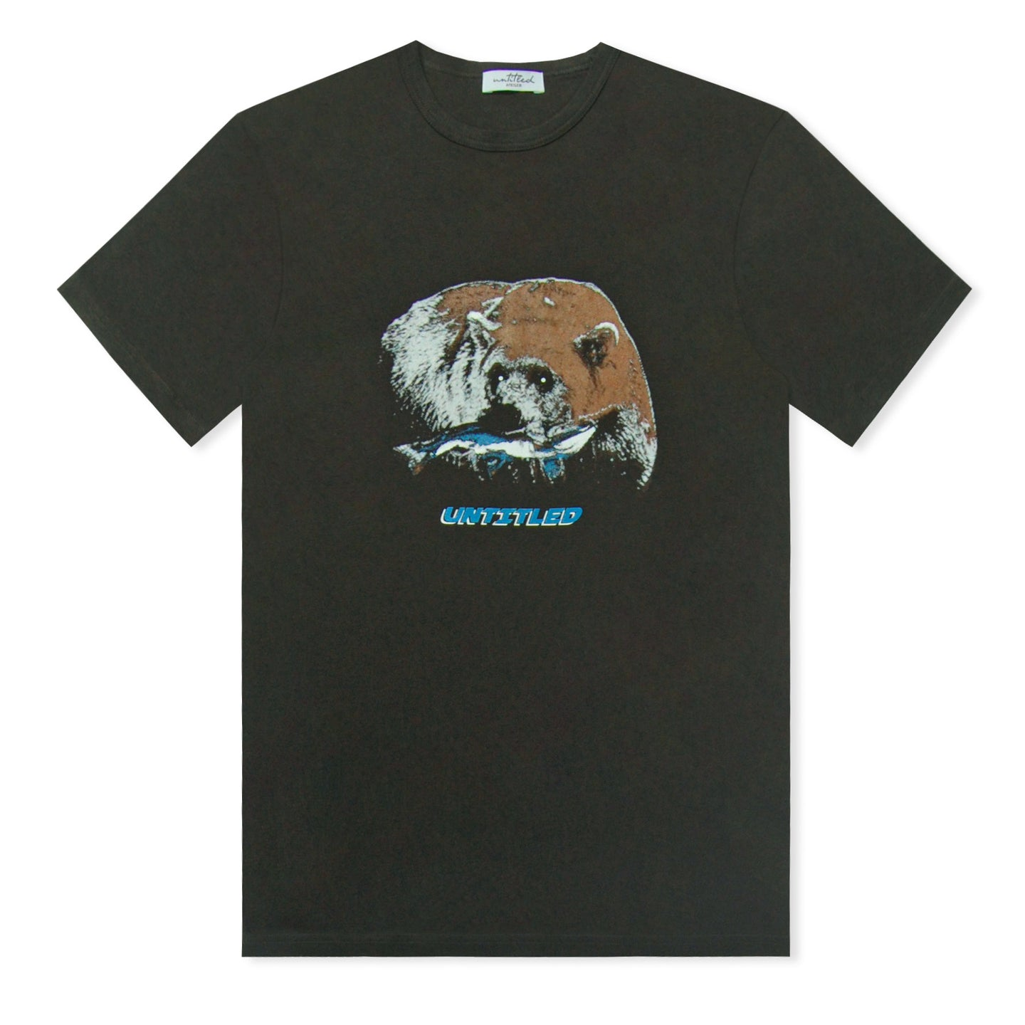 Black Untitled Atelier Bear Printed T-Shirt