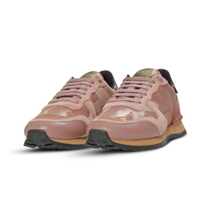 WMN Valentino Rockrunner Camo Trainers Pink