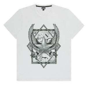White Just Cavalli Star & Wings T-Shirt