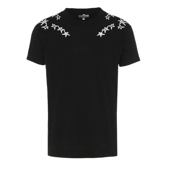 Black Valentino Scribbled Star T-Shirt
