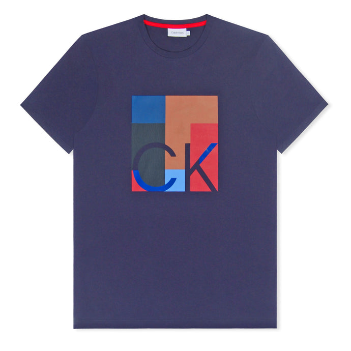Blue Calvin Klein Logo Graphic T-Shirt Sky Captain