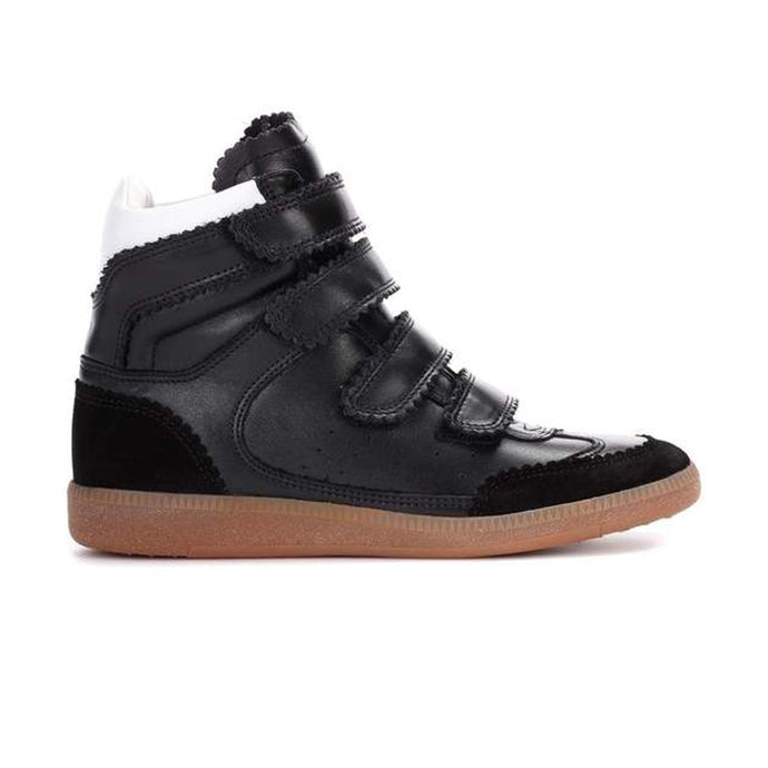 WMN Black Isabel Marant Bilsy Velcro Wedge Trainers