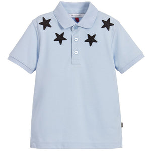 KIDS Lt Blue Givenchy Star Polo