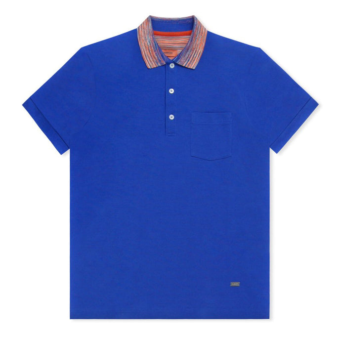 Electric Blue Pique Polo