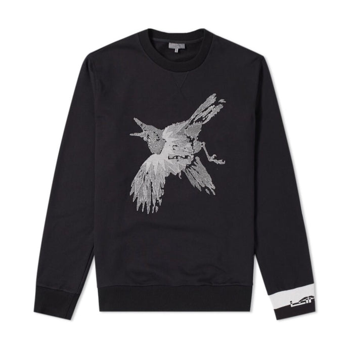Black Lanvin Bird Applique Sweatshirt