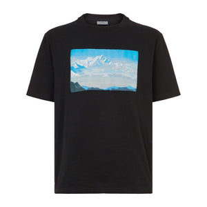 Lanvin Mountain Jaquard Appliqué T-Shirt Black