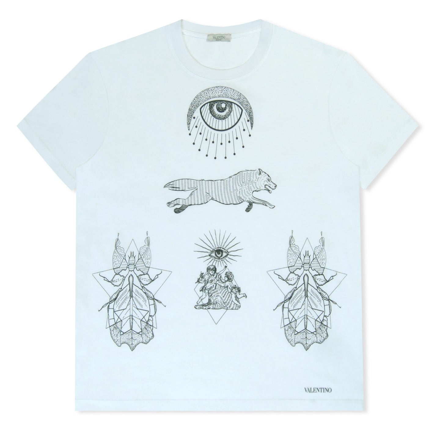 White Valentino All Seeing Eye T-Shirt