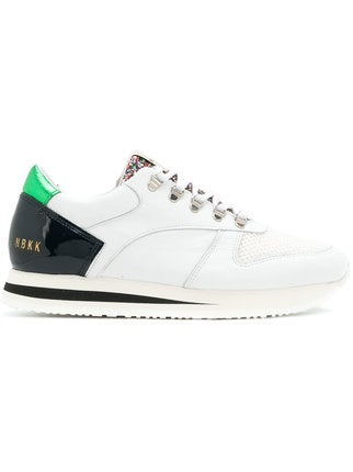 WMN White Nubikk Evi Jaw Leather Runners