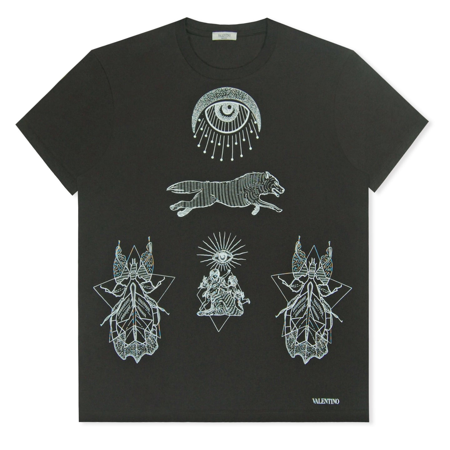 Black Valentino All Seeing Eye T-Shirt
