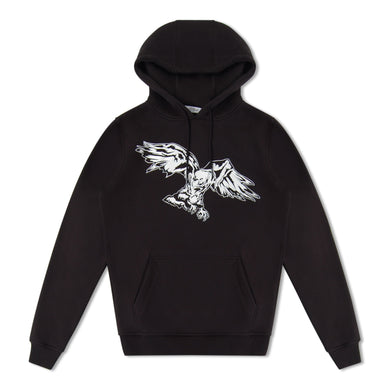 Black Untitled Atelier Eagle Print Hoodie