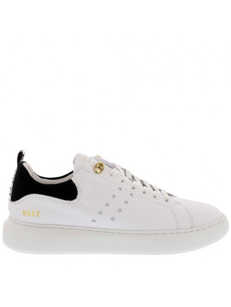 White Leather Nubikk Rox Trainers