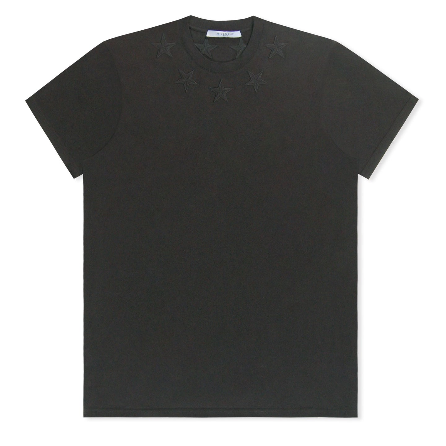 MENS Givenchy Embroidered Star T-Shirt Black