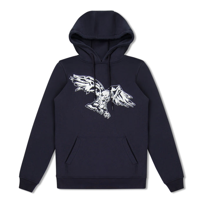 Navy Untitled Atelier Eagle Print Hoody