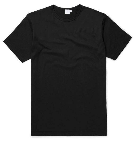 Black Plain Crew Neck T-Shirt