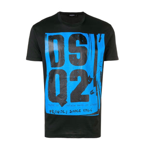 Black DSQ2 Block Logo Print T-Shirt