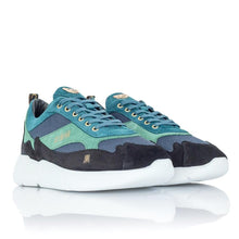 Mercer Amsterdam W3RD Trainers Black/Money Green