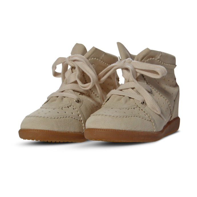 WMN Chalk Isabel Marant Bobby Trainers