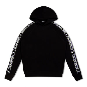 Black Dsquared2 Side Stripe Hoody