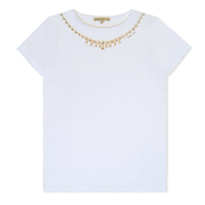 WMN Patrizia Pepe Jewel Chain T-Shirt