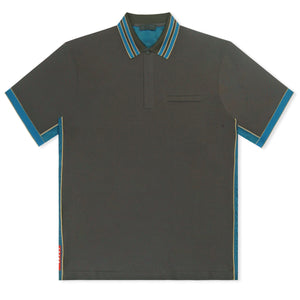 Grey/Khaki/Blue Prada Contrast Polo