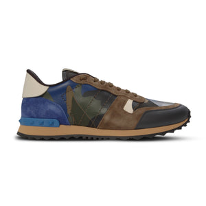 Khaki/Blue Camo Rock Runners