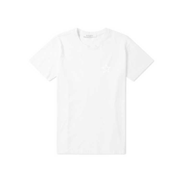 White Givenchy Star Tonal Chest T-Shirt