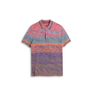 Multi Sunset Missoni Pique Short Sleeve Polo