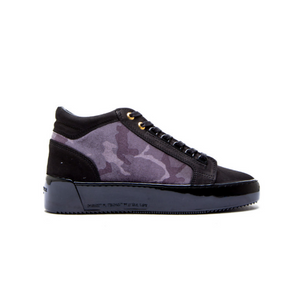 Android Homme Black/Grey Camo Velvet Trainers