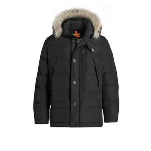 Black Parajumpers Carmel Parka Coat