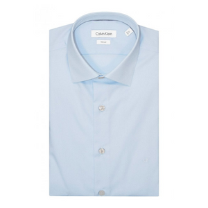 Light Blue Cannes Fitted Long Sleeve Shirt